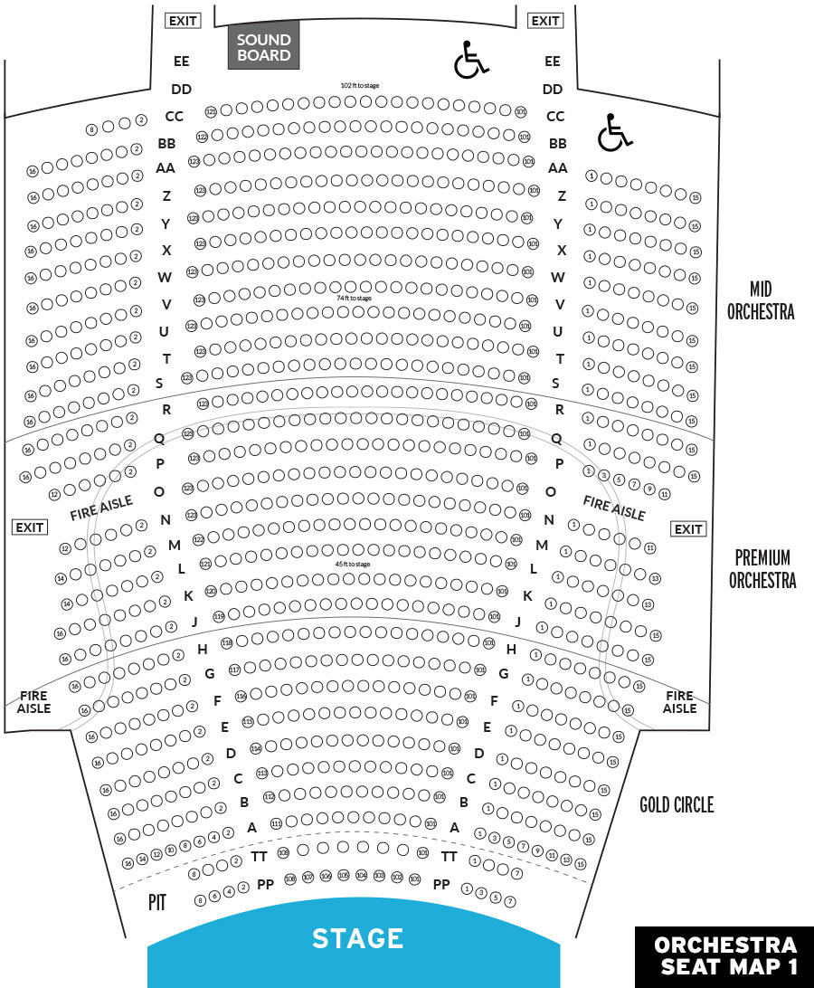 State Theatre New Brunswick Seating Chart Guna