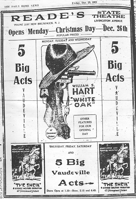 Poster from the State Theatre opening day in 1921!