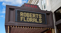 Marquee Advertising at State Theatre New Jersey