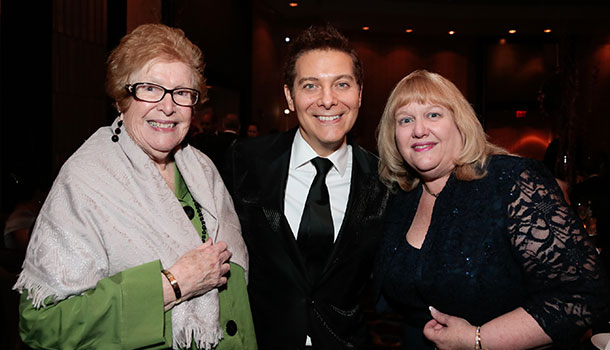 Adelaide Zagoren, Michael Feinstein and Laura Baron
