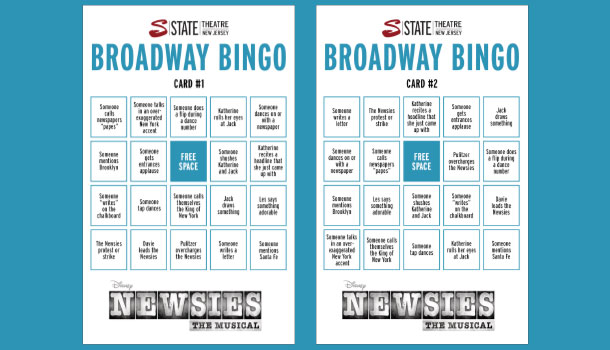 Newsies Bingo