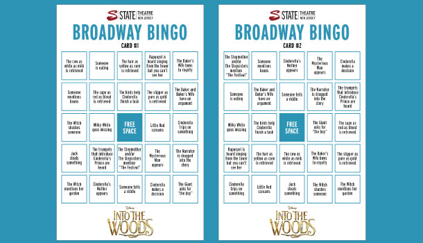 Into the Woods Bingo