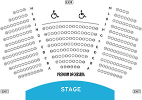 Crossroads Theatre Seat Map