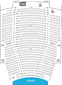 State Theatre New Jersey Seat Map 2 Orchestra